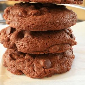 Stack of brownie CC Cookies